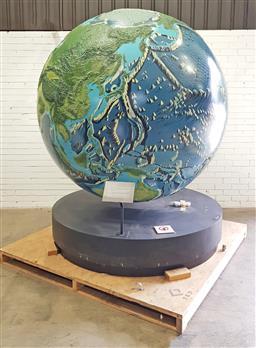 Sale 9117 - Lot 1054 - Large mechanical world globe, ex Australian museum (d:200cm)