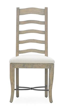 Sale 9140F - Lot 28 - Hardy Interiors original design. A set of 6 salvage grey ladder back dining chairs made from fruitwood. Dimensions: W49 x D55 x H109 cm