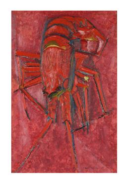 Sale 9245J - Lot 93 - Frank Hodgkinson - Crayfish signed and dated 55 lower right