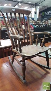Sale 8375 - Lot 1049 - Antique Oak Rocking Chair