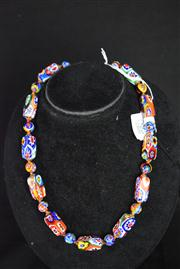Sale 8396A - Lot 10 - Murano Glass Millefiori Necklace