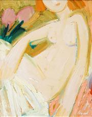 Sale 8526 - Lot 512 - Geoffrey Proud (1946 - ) - Untitled (Nude & Tulips) 39.5 x 31.5cm