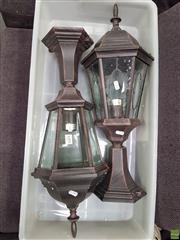 Sale 8637 - Lot 1095 - 2 Outdoor Lamps