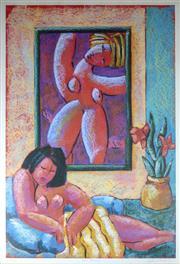 Sale 8972A - Lot 5038 - Graham Borough (1943 - ) - The Studio 83 x 55 cm