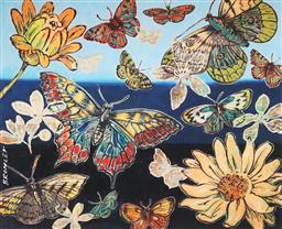 Sale 9081A - Lot 5058 - David Bromley (1960 - ) - Butterflies I 28.5 x 35 cm