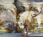 Sale 9084 - Lot 556 - Steve Lopes (1971 - ) - Alluvial Figure I, 2005 110 x 122 cm (frame: 112 x 124 cm)