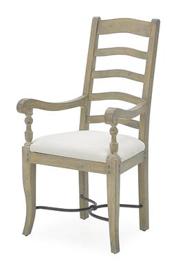 Sale 9140F - Lot 29 - Hardy Interiors original design. A pair of salvage grey ladder back dining armchairs made from fruitwood. Dimensions: W58 x D61 x H1...
