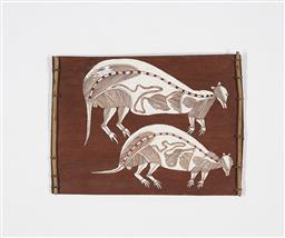 Sale 9195 - Lot 567 - DICK NGUlAYNGULAY MURUMURU - Bandicoots 47 x 35 cm
