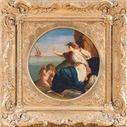 Sale 8341A - Lot 61 - European School, Early C19th - The Farewell 30 x 30 cm