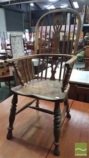 Sale 8375 - Lot 1050 - Antique Elm Windsor-Style Armchair