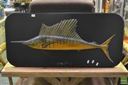 Sale 8361 - Lot 1066 - Sail Fish Wall Carving