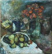 Sale 8362A - Lot 8 - René Clarot, Belgium, 1882-1972, Impressionist - Still Life unframed