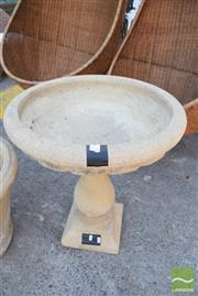 Sale 8390 - Lot 1369 - Sandstone Bird Bath