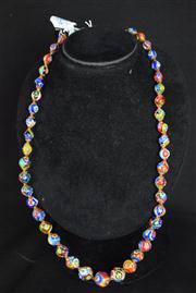 Sale 8396A - Lot 11 - Murano Glass Millefiori Necklace