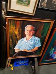 Sale 8695 - Lot 2066 - Tony Ribton - Portrait, acrylic on board, SLR