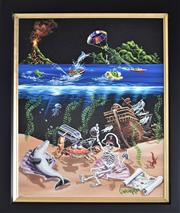 Sale 8778A - Lot 5030 - Michael Godard - Sand Bar II 87 x 104cm (frame)