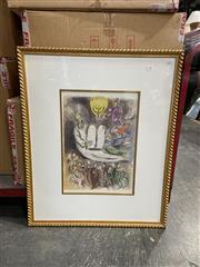 Sale 8990 - Lot 2086 - Marc Chagall decorative print, 83 x 68cm