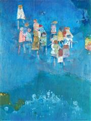 Sale 9047 - Lot 519 - Louis James (1920 - 1996) - Children in the Park, 1985 100 x 74 cm (frame: 114 x 89 x 4 cm)