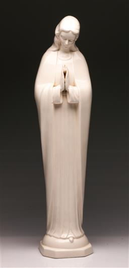 Sale 9104 - Lot 63 - A Large White Porcelain Religious Figure H:55cm