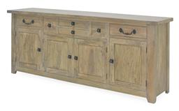 Sale 9140F - Lot 30 - A classy, salvage grey coloured fruitwood sideboard containing 6 drawers & 4 doors. Dimensions: W216 x D50 x H92 cm
