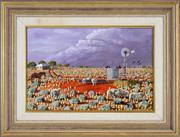 Sale 8316 - Lot 515 - Hugh Schulz (1921 - 2005) - Coming Storm Out West, 1990 29.5 x 45cm