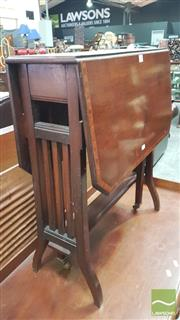 Sale 8375 - Lot 1044 - Late C19th Mahogany & Inlaid Sutherland Table