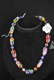 Sale 8396A - Lot 12 - Murano Glass Millefiori Necklace