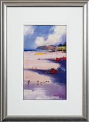 Sale 8427 - Lot 577 - Colin Parker (1941 - ) - Beach Scene 44.5 x 25.5cm