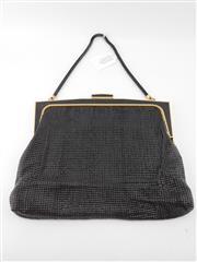Sale 8514H - Lot 31 - Vintage Glowmesh Black Evening Bag w snake strap