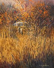 Sale 8624 - Lot 507 - Colleen M Parker (1944 - 2008) - Through Golden Leaves 49.5 x 39.5cm