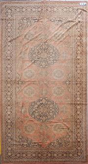 Sale 8676 - Lot 1160A - Early Belgian Type Machine-Woven Persian Style Carpet (296 x 160cm)