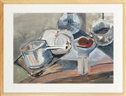 Sale 8771 - Lot 2013 - Artist Unknown - Kitchen Table 41 x 57.5cm