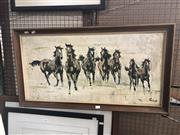 Sale 8819 - Lot 2131 - Vintage Horse Print