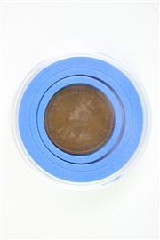 Sale 8835C - Lot 36 - An Australian 1926 halfpenny error coin, weak stike to one & penny,