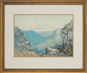 Sale 8856 - Lot 2063 - Lionel David - Mountain Scene 31.5 x 44cm