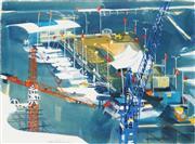 Sale 8901A - Lot 5011 - Frank George Hodgkinson (1919 - 2001) - Pyrmont, 1999 57 x 76.5 cm