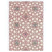 Sale 8870C - Lot 74 - Nepal Repeated Hearts Design Rug in Tibetan Highland Wool & Chinese Silk, 261x179cm