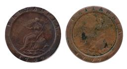 Sale 9130E - Lot 41 - Two George III British cartwheel pennies dated 1797, Diameter 4cm