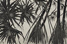 Sale 9170A - Lot 5091 - RACHEL NEWLING (1956 - ) Pandanus Trees linocut ed. 7/50 72 x 97 cm (frame) signed lower right
