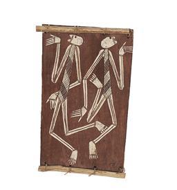 Sale 9195 - Lot 569 - THOMPSON NGANJMIRRA (1954 - ) - Mimi Spirit Figures 34 x 20 cm
