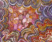 Sale 8288A - Lot 33 - Alkawari Dawson (c1930 - 2010) - Emu Man Dreaming (Wati Kalaya), 2007 120 x 150cm