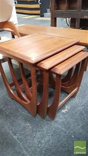 Sale 8395 - Lot 1028 - G-Plan Teak Nest of Three Tables