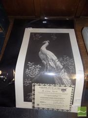 Sale 8487 - Lot 2063 - Lionel Lindsay, Quantity of (10) facsimile etchings, Morning Glory (5) & The White Peacock (5) (each with certificate)