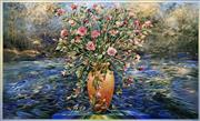 Sale 8575 - Lot 542 - David Voigt (1944 - ) - Riverside Roses, 1999 95 x 156cm