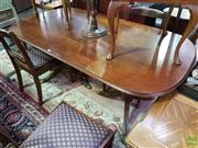 Sale 8580 - Lot 1056A - Timber Five Piece Dining Suite