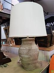 Sale 8589 - Lot 1042 - Pair of Terracotta Base Table Lamps
