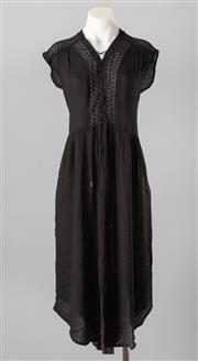 Sale 8661F - Lot 42 - A Sabina Musayev black sundress with contemporary lace paneling and a subtle crimped texture, size XS
