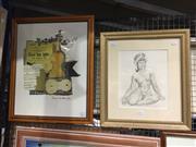 Sale 8771 - Lot 2094 - Norman Lindsay, Framed Decorative Print, 47 x 42cm (frame size)