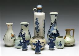 Sale 9153 - Lot 81 - A group of ceramics incl. Delft (11) (tallest - h:30cm)