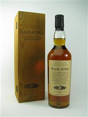 Sale 8329 - Lot 530 - 1x Blair Athol 12YO Highland Single Malt Scotch Whisky - 43% ABV, 700ml in timber presentation box